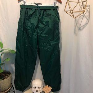 Adidas Green Nylon Parachute Track Pants Size L